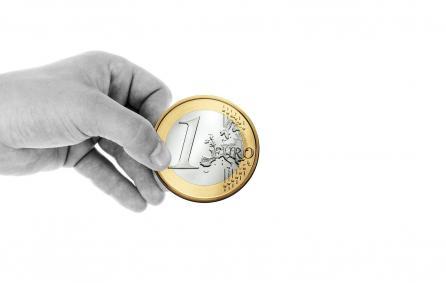 Foto Ter illustratie: Hand met Euro