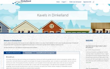 Kavelwebsite gemeente Dinkelland