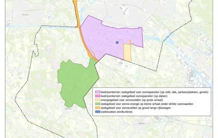 Kaart met daarop zoekgebieden Hengelo